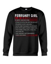 FEBRUARY GIRL FACTS Crewneck Sweatshirt front