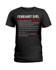 FEBRUARY GIRL FACTS Ladies T-Shirt front