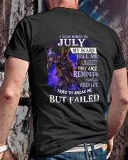 I WAS BORN IN JULY Classic T-Shirt lifestyle-mens-crewneck-back-2