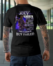 I WAS BORN IN JULY Classic T-Shirt lifestyle-mens-crewneck-back-3