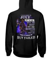 I WAS BORN IN JULY Hooded Sweatshirt thumbnail