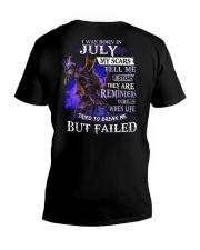 I WAS BORN IN JULY V-Neck T-Shirt thumbnail