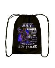 I WAS BORN IN JULY Drawstring Bag thumbnail