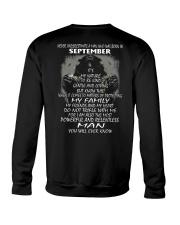 NEVER UNDERESTIMATE A MAN WHO WAS BORN SETEMBER Crewneck Sweatshirt thumbnail