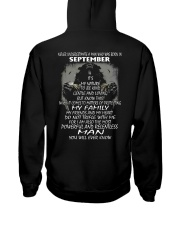 NEVER UNDERESTIMATE A MAN WHO WAS BORN SETEMBER Hooded Sweatshirt thumbnail