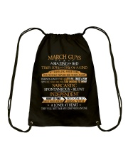 MARCH GUYS AMAZING IN BED Drawstring Bag thumbnail