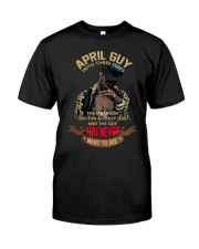 APRIL GUY WITH THREE SIDES Classic T-Shirt front