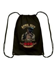 APRIL GUY WITH THREE SIDES Drawstring Bag thumbnail
