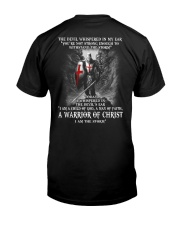 DEVIL WHISPERED - WARRIOR OF CHRIST Classic T-Shirt thumbnail