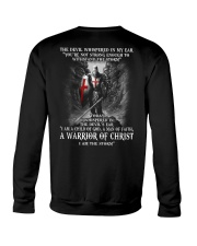 DEVIL WHISPERED - WARRIOR OF CHRIST Crewneck Sweatshirt thumbnail