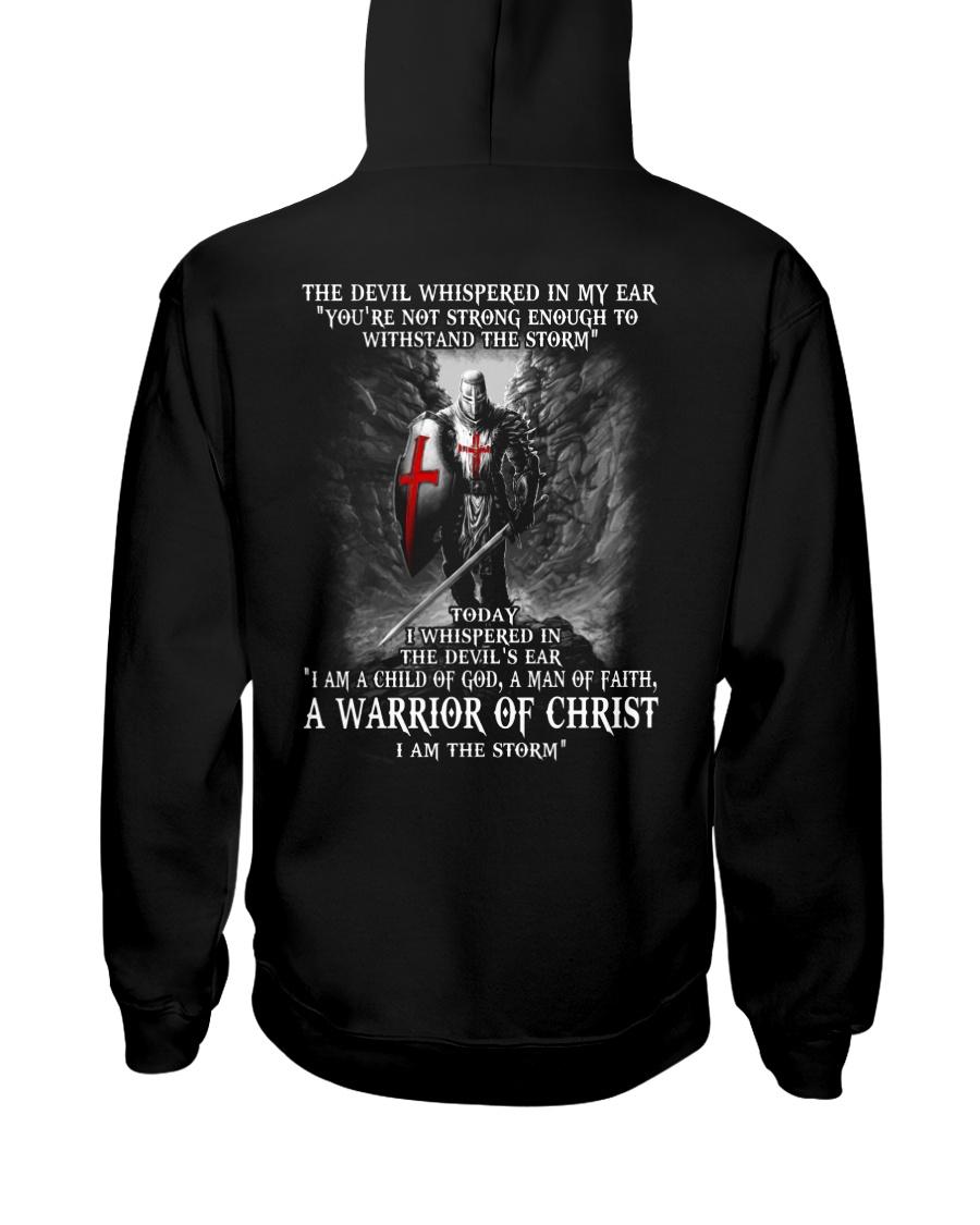 DEVIL WHISPERED - WARRIOR OF CHRIST Hooded Sweatshirt