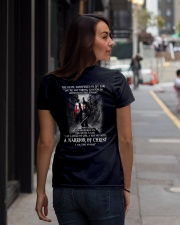 DEVIL WHISPERED - WARRIOR OF CHRIST Ladies T-Shirt lifestyle-women-crewneck-back-1