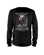 DEVIL WHISPERED - WARRIOR OF CHRIST Long Sleeve Tee thumbnail