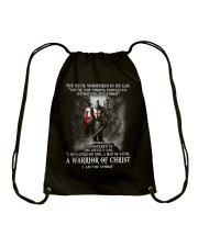 DEVIL WHISPERED - WARRIOR OF CHRIST Drawstring Bag thumbnail