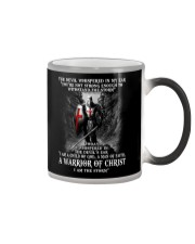DEVIL WHISPERED - WARRIOR OF CHRIST Color Changing Mug thumbnail