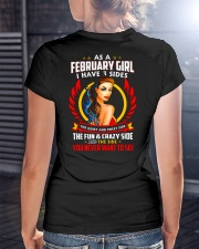 AS A FEBRUARY GIRL Ladies T-Shirt lifestyle-women-crewneck-back-3