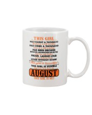 THIS GIRL WAS BORN IN AUGUST Mug front
