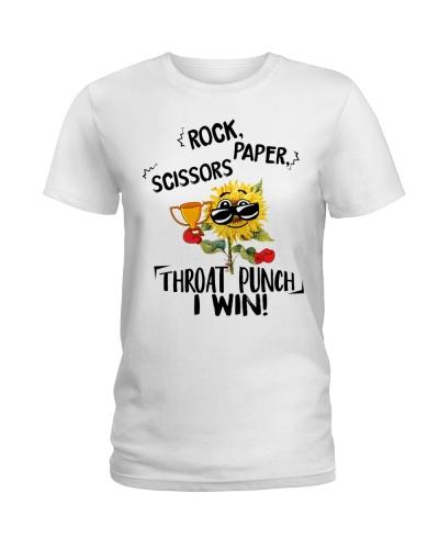 ROCK PAPER SCISSORS THROAT PUNCH I WIN