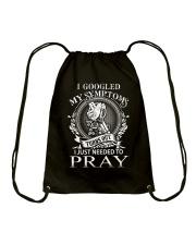 JUST PRAY - WARRIOR OF CHRIST Drawstring Bag thumbnail