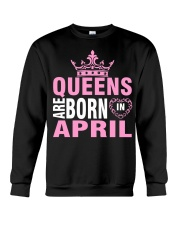 QUEENS ARE BORN IN APRIL Crewneck Sweatshirt thumbnail