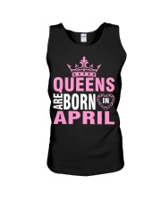 QUEENS ARE BORN IN APRIL Unisex Tank thumbnail