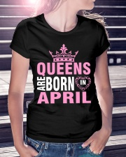QUEENS ARE BORN IN APRIL Ladies T-Shirt lifestyle-women-crewneck-front-7