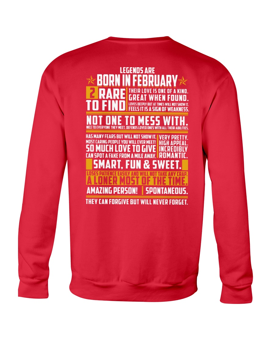 LEGENDS ARE BORN IN FEBRUARY Crewneck Sweatshirt