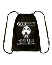 GOD - WARRIOR OF CHRIST Drawstring Bag thumbnail