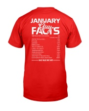 JANUARY GUY FACTS Classic T-Shirt back