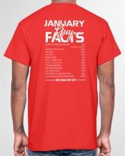 JANUARY GUY FACTS Classic T-Shirt garment-tshirt-unisex-back-04
