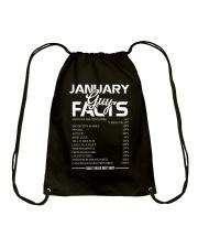JANUARY GUY FACTS Drawstring Bag thumbnail