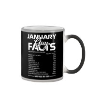 JANUARY GUY FACTS Color Changing Mug tile