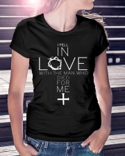 FELL IN LOVE - WARRIOR OF CHRIST Ladies T-Shirt lifestyle-women-crewneck-front-7