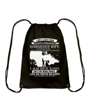GORGEOUS APRIL WIFE Drawstring Bag thumbnail