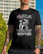 IM AN ASSHOLE APRIL GUY Classic T-Shirt lifestyle-mens-crewneck-front-8