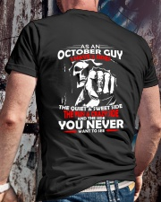 AS AN OCTOBER GUY - I HAVE 3 SIDES Classic T-Shirt lifestyle-mens-crewneck-back-2
