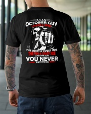 AS AN OCTOBER GUY - I HAVE 3 SIDES Classic T-Shirt lifestyle-mens-crewneck-back-3