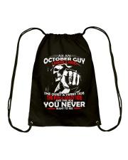 AS AN OCTOBER GUY - I HAVE 3 SIDES Drawstring Bag thumbnail