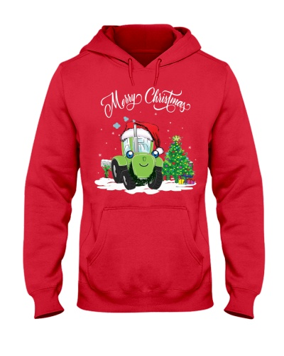 MERRY CHRISTMAS - TRACTOR - FARMER