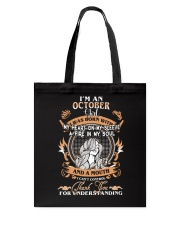 OCTOBER GIRL WAS BORN WITH MY HEART ON MY SLEEVE Tote Bag thumbnail