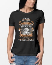 OCTOBER GIRL WAS BORN WITH MY HEART ON MY SLEEVE Ladies T-Shirt lifestyle-women-crewneck-front-10