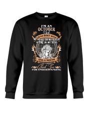 OCTOBER GIRL WAS BORN WITH MY HEART ON MY SLEEVE Crewneck Sweatshirt thumbnail