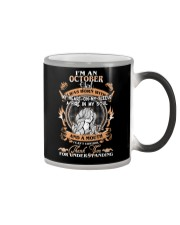OCTOBER GIRL WAS BORN WITH MY HEART ON MY SLEEVE Color Changing Mug thumbnail