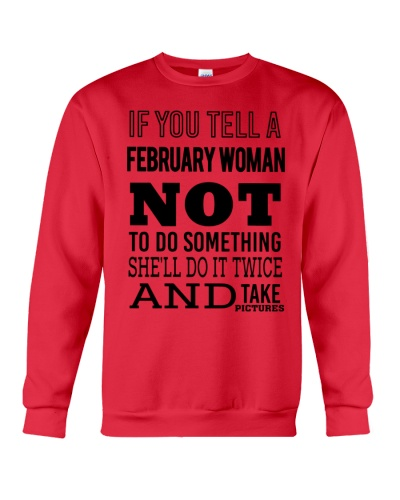 FEBRUARY WOMAN NOT TO DO SOMETHING