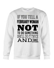 FEBRUARY WOMAN NOT TO DO SOMETHING Crewneck Sweatshirt thumbnail