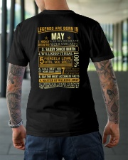 LEGENDS ARE BORN IN MAY Classic T-Shirt lifestyle-mens-crewneck-back-3