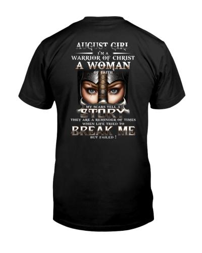 AUGUST GIRL WARRIOR OF CHRIST