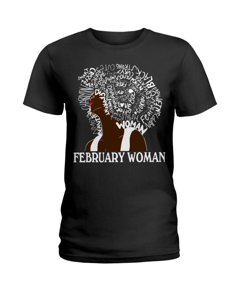 FEBRUARY BLACK WOMAN  Ladies T-Shirt