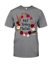 NOT TODAY SATAN - WARRIOR OF CHRIST Classic T-Shirt thumbnail