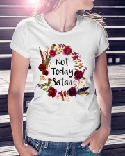 NOT TODAY SATAN - WARRIOR OF CHRIST Ladies T-Shirt lifestyle-women-crewneck-front-7